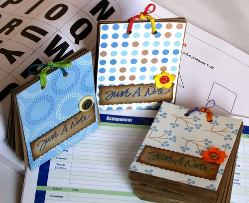 Notebooks from tissue boxes & groceries bags