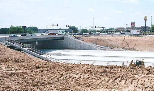 Stimulus funds paid for construction