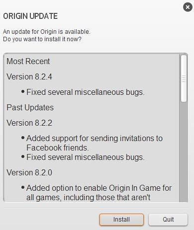 Origin Update 8.2.4 is Now Available