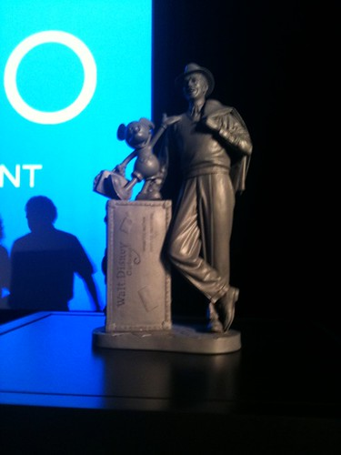 Closer look at the new Walt and Mickey statue coming to California Adventure. #D23Expo #fb