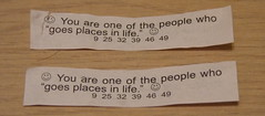Fortune cookie messages - go places together in life