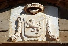 Escudo en la puerta de acceso al palacio de los condes de Ezpeleta