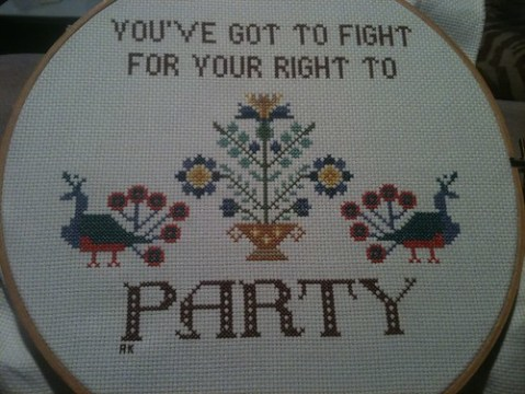 You've got to fight, for your right to party