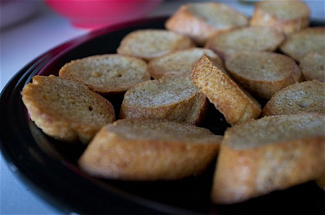 1. toasted crostini tsg