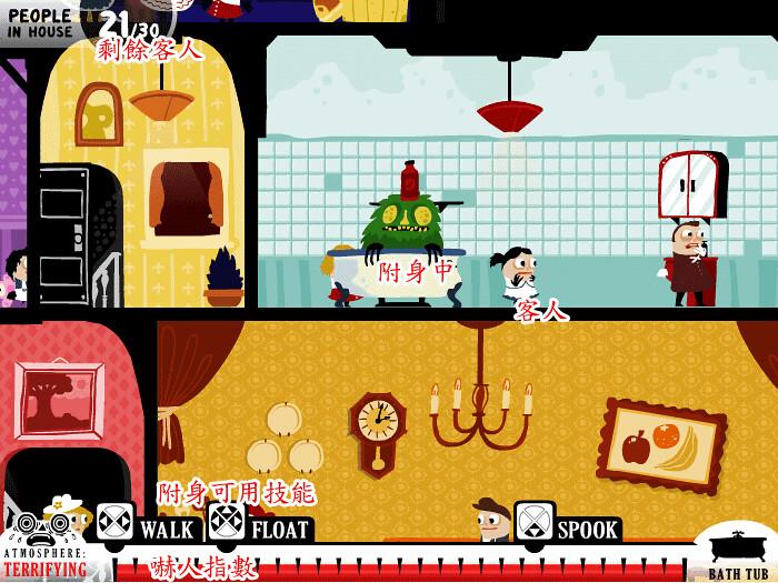 [另類搞怪]頑皮鬼嚇客人-嚇跑30個客人(Haunt the House) - Little-Games板 - Disp BBS