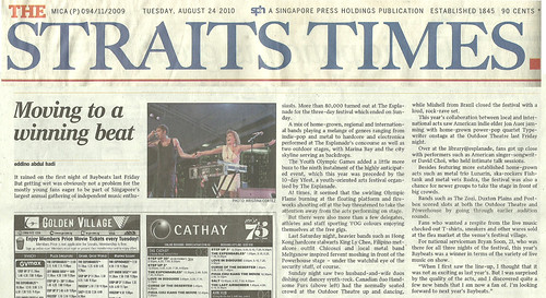 Tear sheet #1: The Straits Times