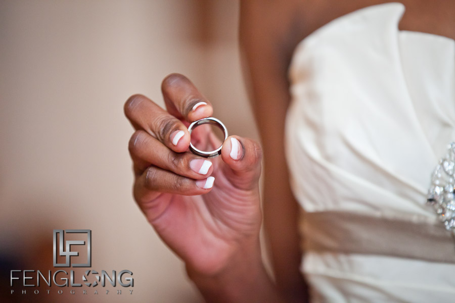 Exchanging Rings | Trina + Shawn Wedding | Wimbish House (Atlanta Women's Club) | Midtown Atlanta Wedding Photographer