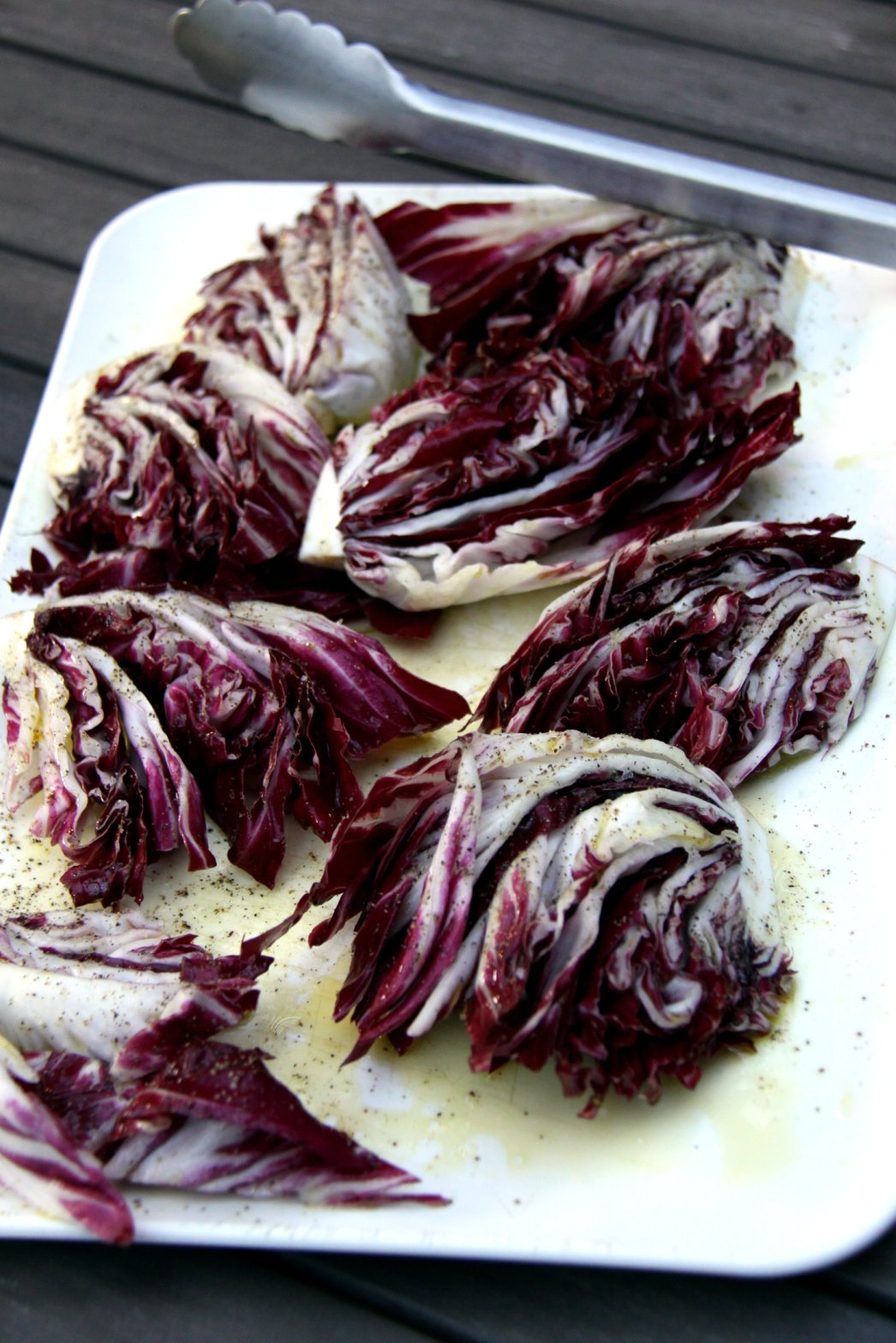 radicchio with olive oil