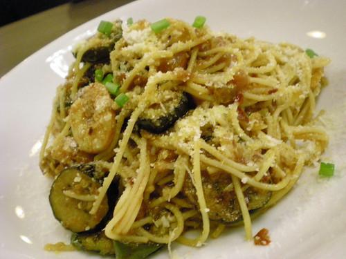 Tom'sToo spicy eggplant spaghetti