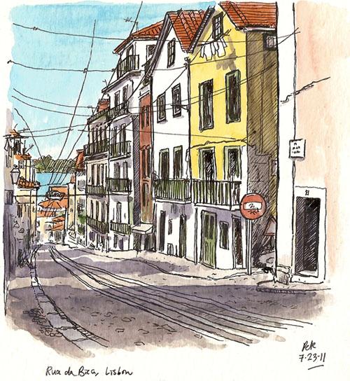 contrastes rua bica
