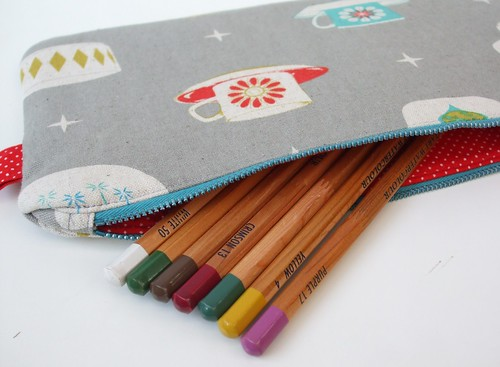 Vintage Dishes Pencil Case