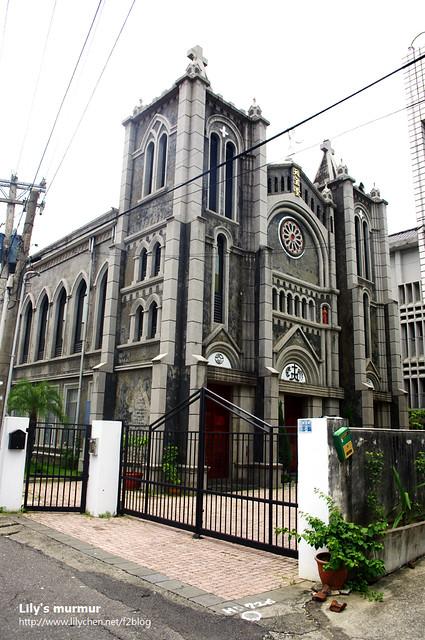 旗山美麗的聖若瑟天主堂,只可惜沒機會進去參觀。
