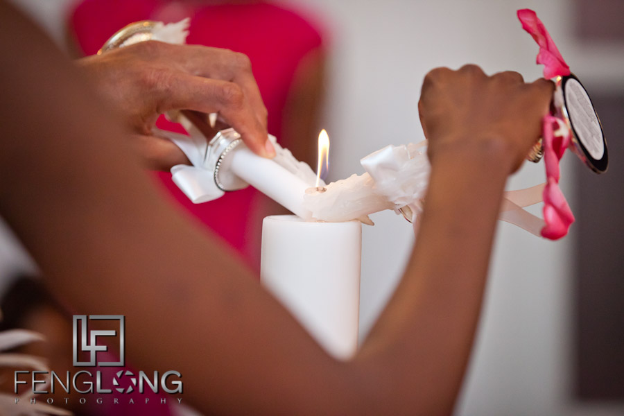 Unity Candle | Trina + Shawn Wedding | Wimbish House (Atlanta Women's Club) | Midtown Atlanta Wedding Photographer
