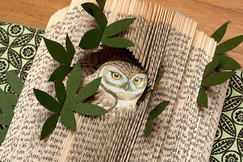 Altered Book: The Owl House & Home - detail