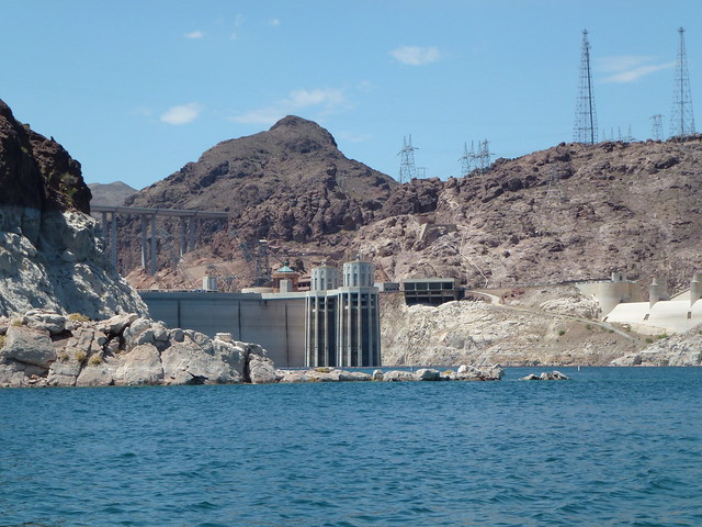 Hoover Dam Wall & By-Pass Bridge from Lake Mead Las Vegas from http://www.TipsforTravellers.com