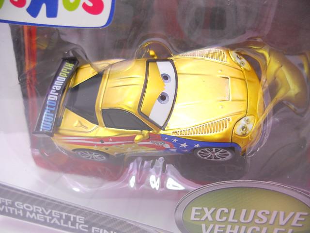disney cars 2 tru exclsuive gold metallic jeff gorvette (2)