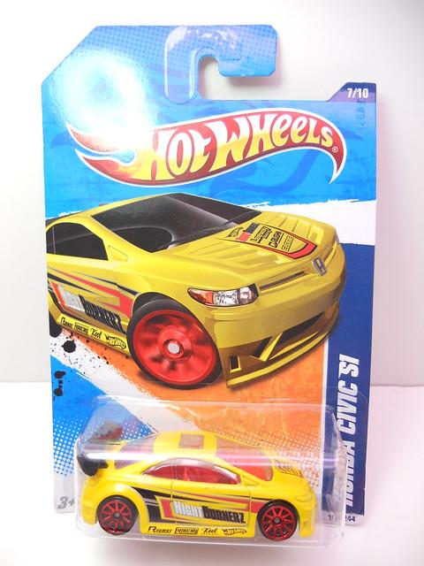hot wheels honda civic si yellow (1)