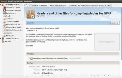libgimp2.0-dev instalado