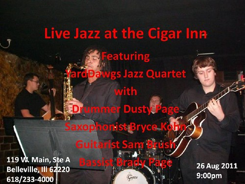 Live Jazz @ the INN featuring YardDawgs Jazz Quartet, 26 Aug 11[1]