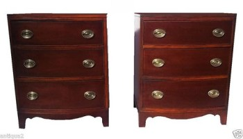 Georgian bow front chests commodes Ebay