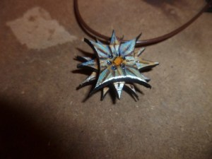 Laser Scrap Pendant necklace by Crystal Jean‎ Baranyk
