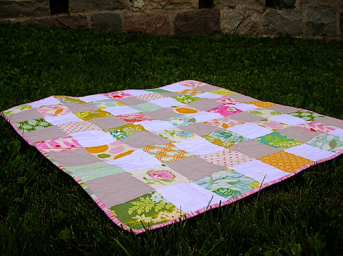nicey jane quilt on the grass