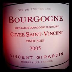Bourgogne 2005 Cuvee Saint-Vincent, Vincent Girardin