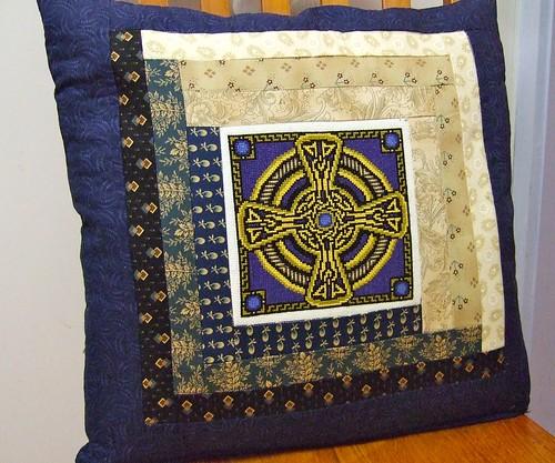 Cross Stitch and Log Cabin Cushion