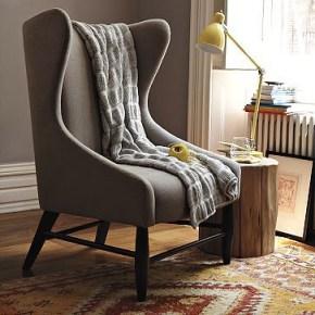 west elm modern wingback chair