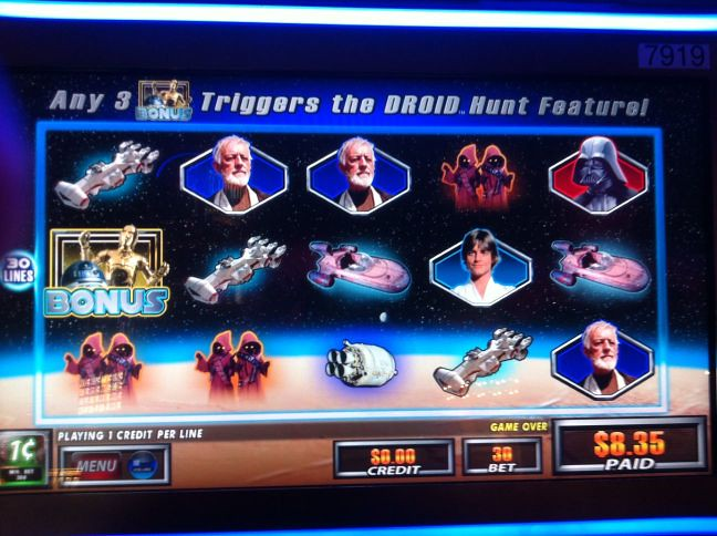 Star Wars Droid Hunt screen