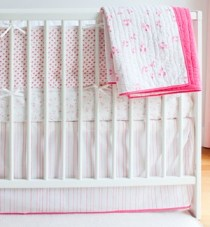 little auggie simple tailored crib skirt