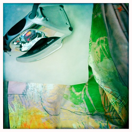 ironing art quilt
