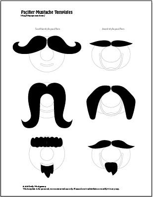 DIY Baby Mustache Pacifier + Printable Template PDF
