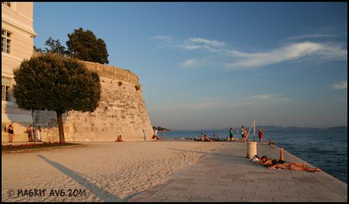 beach under the city walls