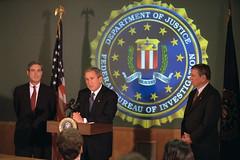911: President George W. Bush Tours Federal Bu...