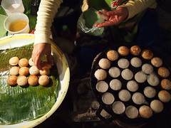 Coconut snacks, Night Market, Luang Prabang