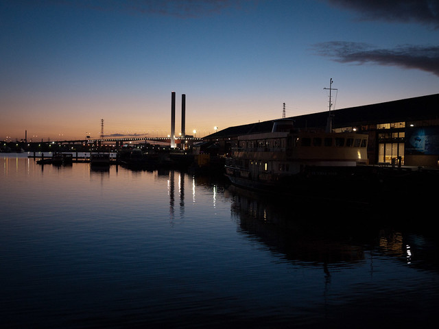 Docklands after sunset