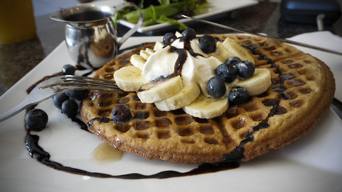 blueberry waffle at the Blue Fig