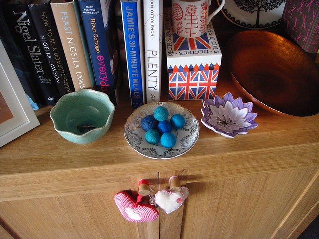 Wet felted balls