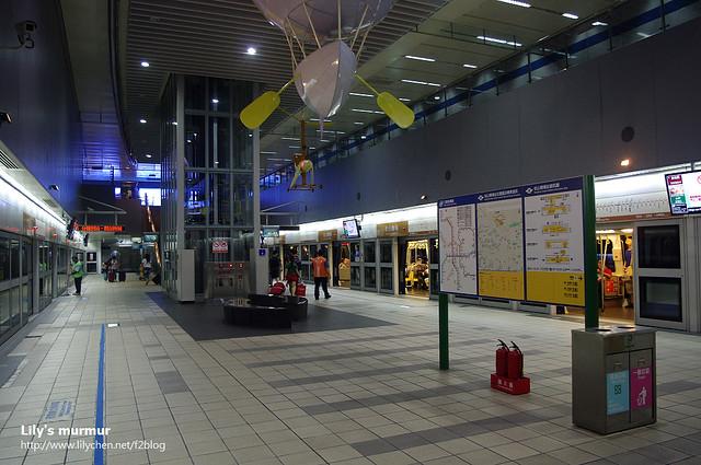 到達捷運松山機場站了!第一次在這一站下車,很新鮮!