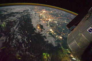 Night View of India-Pakistan Borderlands (NASA...