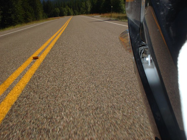 Pavement on Highway 83, Montana
