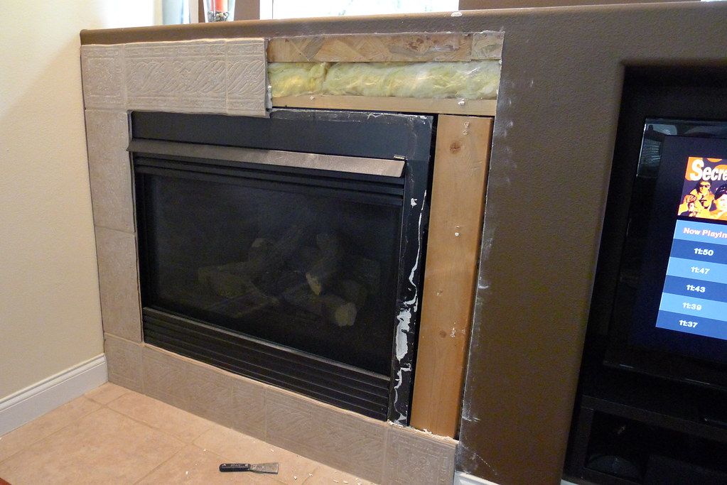 Installing new tile around Gas Fireplace