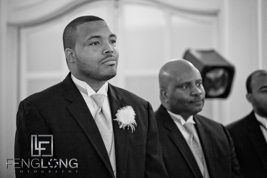 Groom Shedding Tear | Trina + Shawn Wedding | Wimbish House (Atlanta Women's Club) | Midtown Atlanta Wedding Photographer