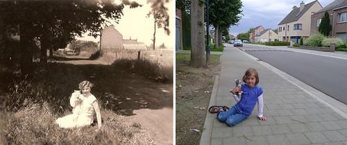 Vroeger en nu: Altenastraat by altenawijk