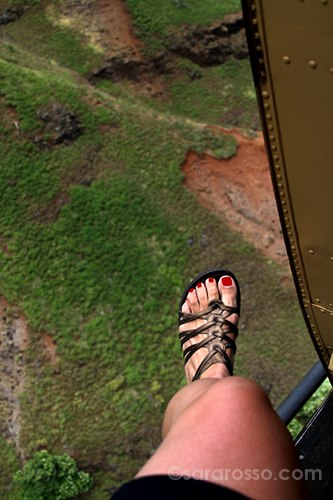 Doors off helicopter ride, Kauai, Hawaii