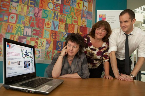 The Manchester Children's Book Festival website with Carol Ann Duffy, Kaye Tew and James Draper