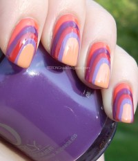 STRONGnails: Late Summer Sunset: nail art with purples and ...