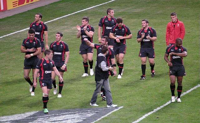 Wales v England RWC Warmup game-Post match celebratory walk around