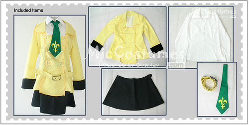 Code Geass Shirley Fenette Cosplay Costume1